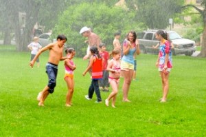 Kids at the July 4th Spray